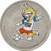 25 рублей 2018 года ЧМ по футболу FIFA 2018 в России - Талисман Чемпионата - Забивака, специальное исполнение (цветная), Cu-Ni, Ац