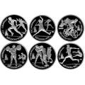 """1 рубль, 1991г. """"Олимпиада в Барселоне 6 монет"""" Пруф"""