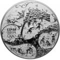 100 рублей, 2014г. (2013) XXII Олимпийские зимние игры в Сочи - Прорубь, серебро, пруф