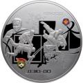 100 рублей, 2014г. Дзюдо, серебро, пруф