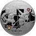 Памятная монета 100 рублей 2014 года Дзюдо, серебро, пруф