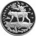25 рублей 1995 г. Сохраним наш мир - Рысь, серебро, пруф