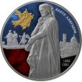 25 рублей 2015 г. 750-летие со дня рождения Данте Алигьери, цветная, серебро, пруф