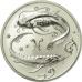 2 рубля 2005 г. Рыбы, серебро, пруф