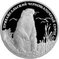 2 рубля 2008 г. Прибайкальский черношапочный сурок, серебро, пруф