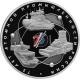 3 рубля 2020 г. 75-летие атомной промышленности России, серебро, пруф