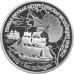 3 рубля 1994 г.  Первая русская антарктическая экспедиция, серебро, пруф