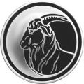 3 рубля 2003 г.  Лунный календарь - Коза, серебро, пруф