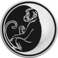 3 рубля 2004 г. Лунный календарь - Обезьяна, серебро, пруф