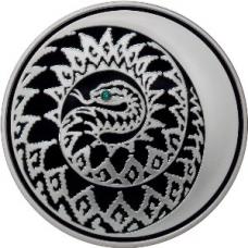 3 рубля 2012 года Лунный календарь - Змея (глаз - кристалл), серебро, пруф