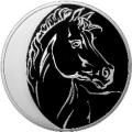 3 рубля 2014 г. Лунный календарь Лошадь, серебро, пруф
