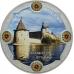 Памятная монета 3 рубля 2015 г. Символы России - Псковский кремль, цветная, серебро, пруф