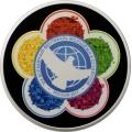 Серебряная монета 3 рубля 2017 г. ХIХ Всемирный фестиваль молодежи и студентов, пруф