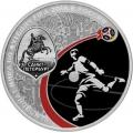 Серебряная монета 3 рубля 2017 г. ЧМ по футболу FIFA 2018 в России, Санкт-Петербург, пруф