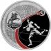 Памятная монета 3 рубля 2017 года ЧМ по футболу FIFA 2018 в России, Санкт-Петербург, серебро, пруф