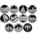 3 рубля 2015 г. Символы России - Комплект 10 монет, серебро, пруф
