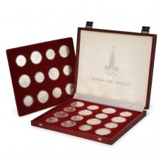 Набор монет Олимпиада 80 серебро (28 монет в коробке)
