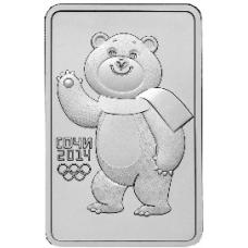 3 рубля 2012 г. XXII Олимпийские игры в Сочи - Белый мишка, серебро, АЦ