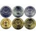 Набор монет 300 лет Российскому флоту (Буклет 6 монет + жетон)