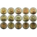 Набор монет Красная книга 1991-1994, биметалл (15 монет)