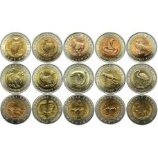 Набор монет Красная книга 1991-1994 (15 монет)