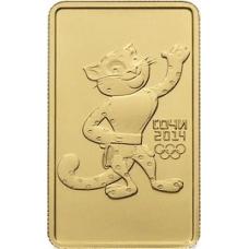 100 рублей 2011 г. Олимпиада в Сочи - Леопард, золото, АЦ
