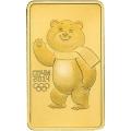 100 рублей 2012 г. Олимпиада в Сочи - Мишка, золото, АЦ