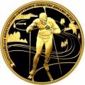 200 рублей 2013 г. 90 лет Динамо - Биатлон, золото, пруф