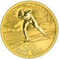 50 рублей 2014 г. Олимпийские игры в Сочи - Конькобежный спорт, золото, пруф