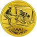 Золотая монета 50 рублей 2014 г. Олимпийские игры в Сочи - Хоккей на льду, пруф