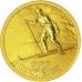 Золотая монета 50 рублей 2014 г. Олимпийские игры в Сочи - Биатлон, пруф